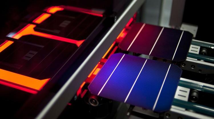 Solarworld solar panel manufacture. Photo: SolarWorld
