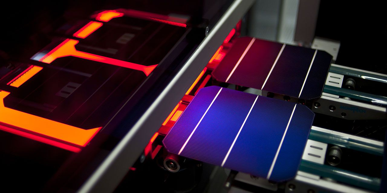Solarworld solar panel manufacture. Photo: SolarWorld