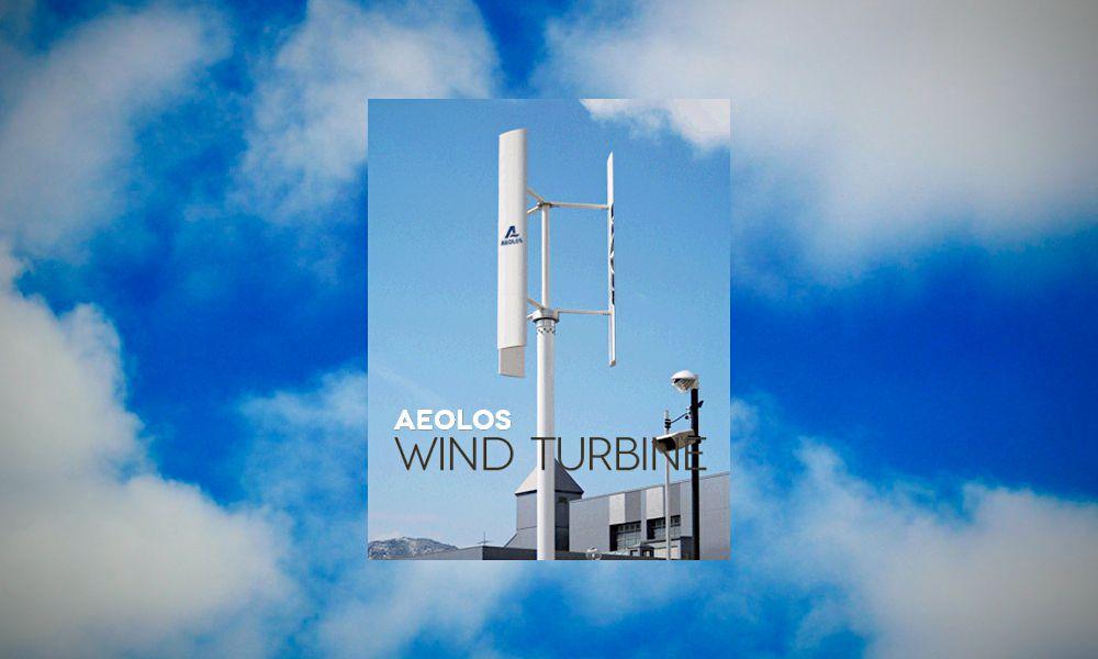 Aeolos Vertical Wind Turbine. Photo: Aeolos