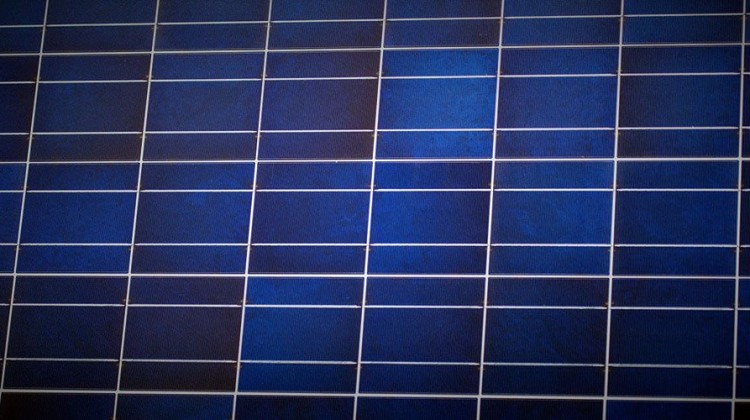 Detail of photovoltaic panels. Photo: Petr Kratochvil