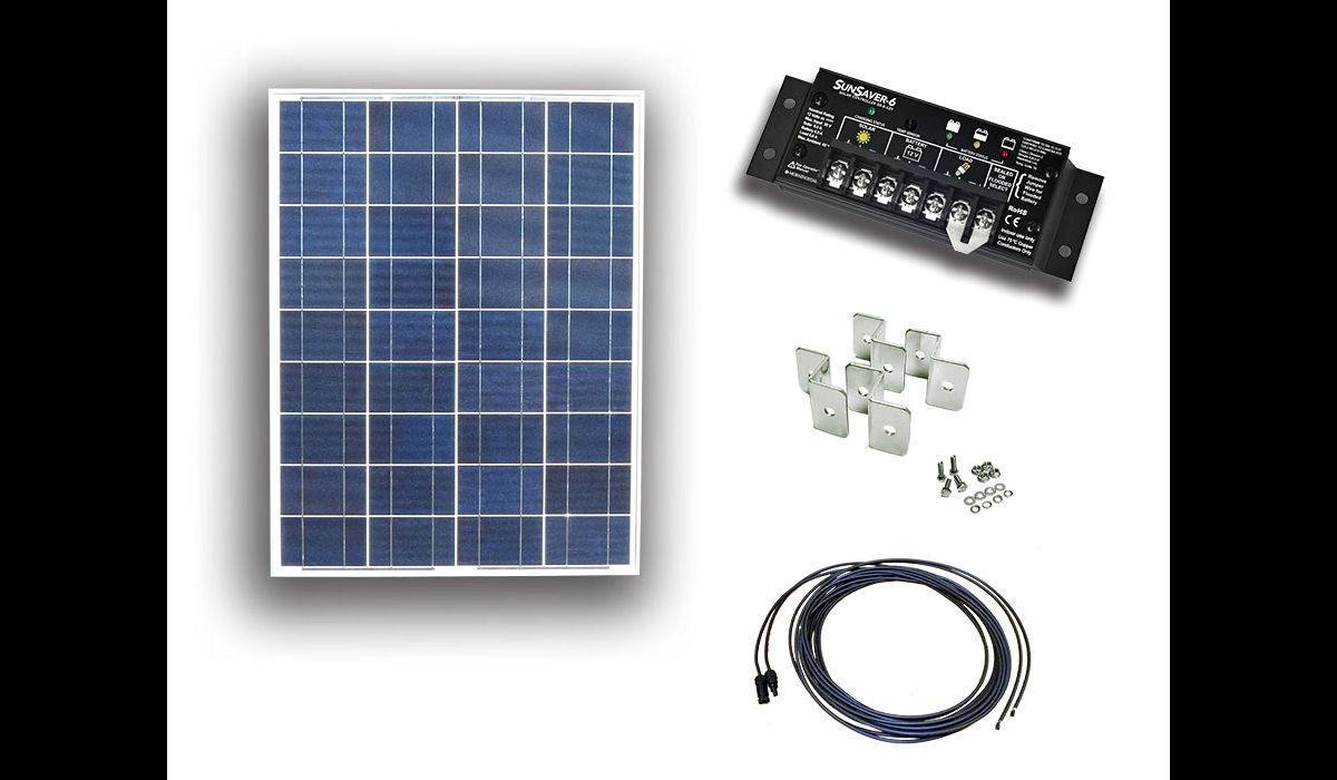 UL Solar 85 watt 12 volt RV solar kit. Photo: UL Solar