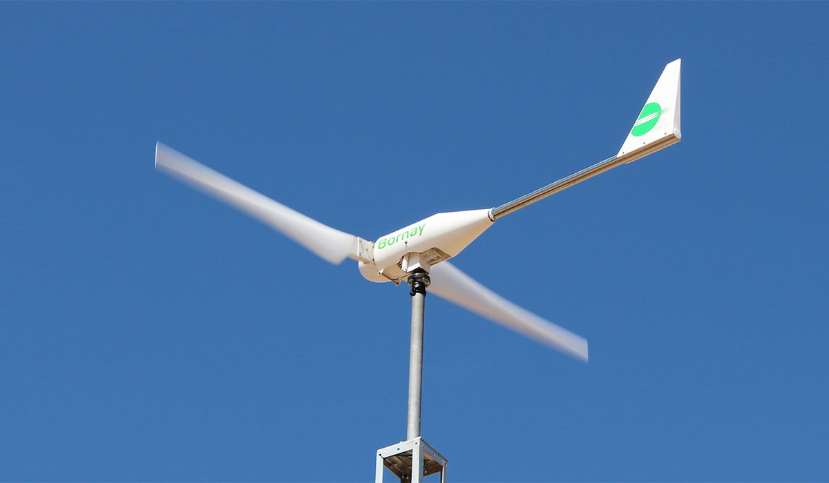 Bornay wind generator. Photo: Bornay