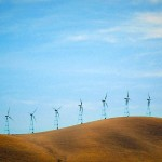Wind turbines on the horizon. Photo: Schick/morguefile.com