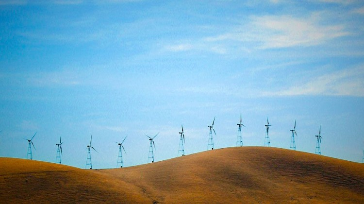 Wind turbines on the horizon. Photo: Schick/morguefile.com