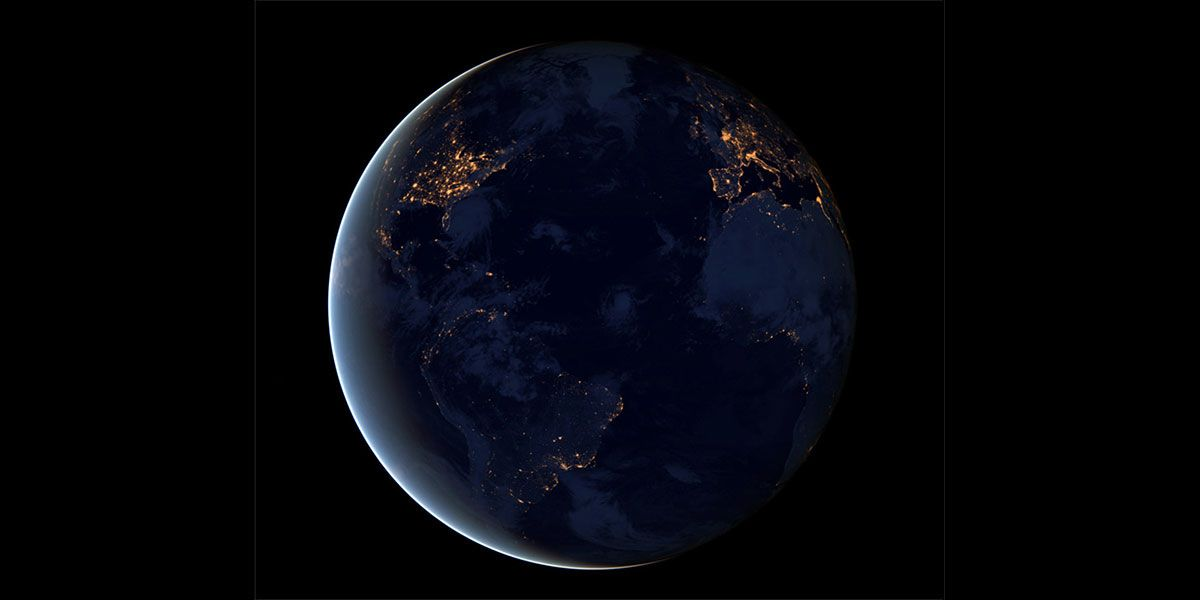 Black Marble. Photo: Nasa