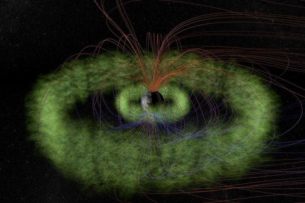 Van Allen Belts around Earth. Photo: NASA