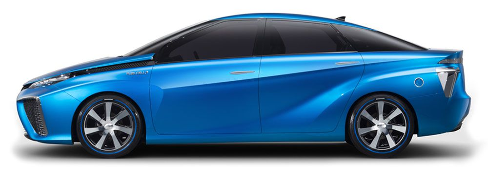 Toyota hydrogen fuel cell concept car