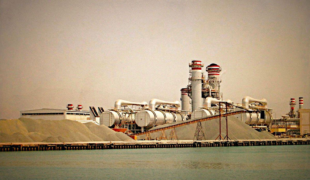 Desalination plant in Ras al-Khaimah, UAE.