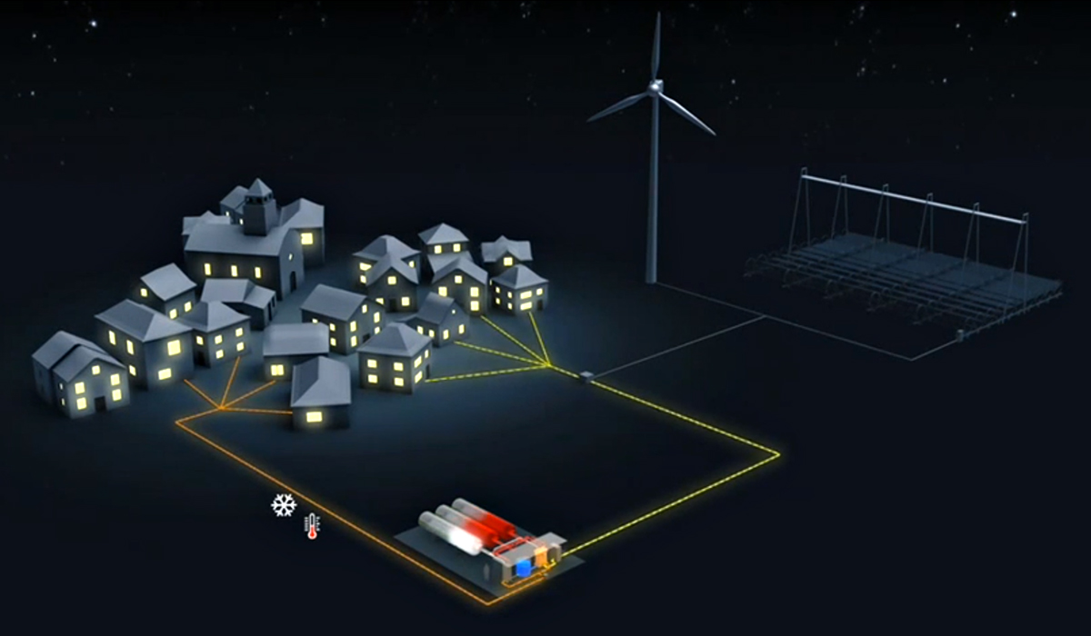 The Greenergy Box energy storage solution from Areva. Image: Areva.