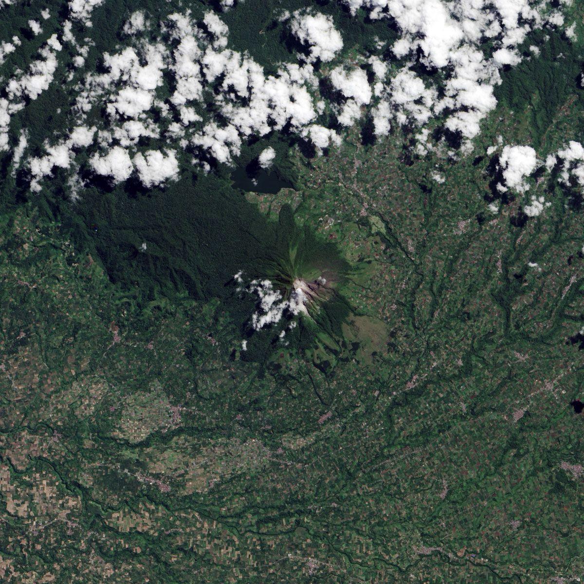 Mount Sinabung, June 2013. Image: NASA.