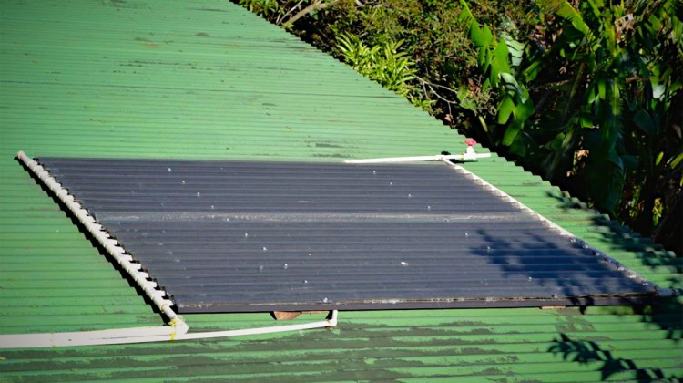 DIY easy solar hot water heater.
