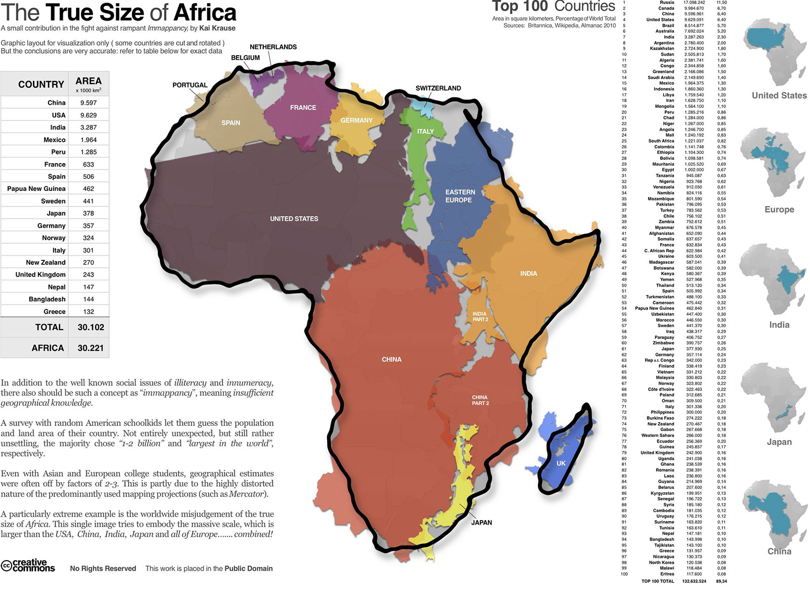 True size of Africa. Image: Kai Krause